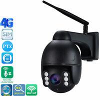 Wireless 4G SIM Card IP Camera 5MP WiFi PTZ 5X Zoom Audio Speaker SONY335 CMOS
