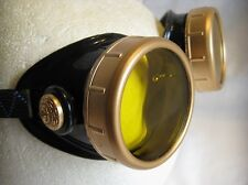 Pro Steampunk Goggles Impact Safety Sun Glasses Balloonist Aviator Biker Welding