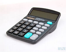 Solar Power Powered Battery Digit Calculator Desktop Jumbo Large Buttons NNY*