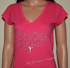 NEW Guess Rhinestones T-shirt Tee Top Raspberry Sherbet, NWT, Size M