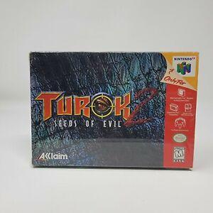 Turok 2 Seeds of Evil Nintendo 64 N64 Brand New Sealed
