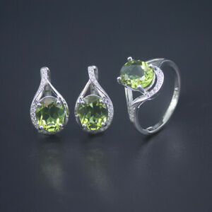 Color Change Sultanit Jewelry Sets S925 Silver Diaspore Ring Earrings 2021 New
