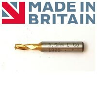 Clarkson England End Mill 3.5mm Shank Dia 6MM Coat 3-Flute No84