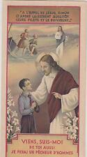 IMAGE PIEUSE /JESUS appelant un jeune scout à le rejoindre-dépliant en 3 volets