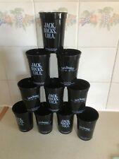 10  JACK DANIELS HARD PLASTIC BEAKERS FROM 2015