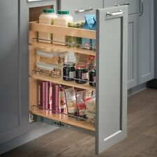 "Kitchen Cabinet-Base Cabinet Pullout- 10"" x 21"" x 24""-Hard Maple-  # BPO10"
