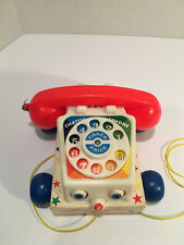Vintage Fisher-Price Chatter Box Telephone #747 1983 Original Toy Story Phone