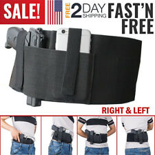 Belly Band Holster for Concealed Carry Gun Right Left Hand Draw Hide Belt Pouch