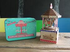 FAVOLOSO MINI GIOSTRA musicale in una scatola regalo per bambini divertente giocattolo NATALE KIT NUOVO