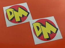 2 x DANGER MOUSE PRINTED VINYL STICKERS BOMBING  JDM RATLOOK  SMALL 50MM