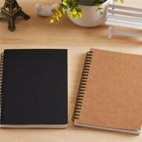 Kraft Cover Blank White Papers Sketchbook Journal Diary Note Book DB