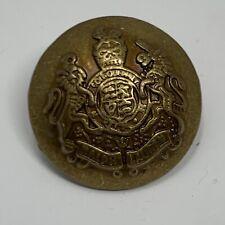 Lot of 8 RALPH LAUREN Crest Lion Unicorn Gold Tone Metal Blazer Jacket Buttons
