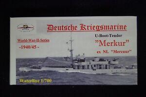 HP Models 1:700 WL U-Boot-Tender Merkur der Deutschen Kriegsmarine  -1940/45-