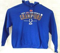 2009 INDIANAPOLIS COLTS AFC CONFERENCE CHAMPIONS HOODIE MEN'S SIZE XL BLUE