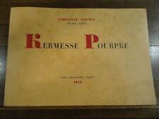 Kermesse Pourpre Looten Tapié Facchetti 1954 Tirage Limité