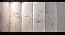 Antique Document 1908 Property Transfer 9/100 Acre Borel/Casey Map San Mateo