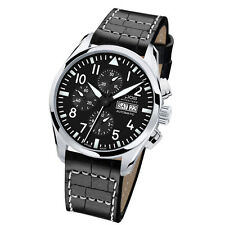 SWISS Epos Automatic Men Luxury Stainless Steel Leather Wrist Watch Gift