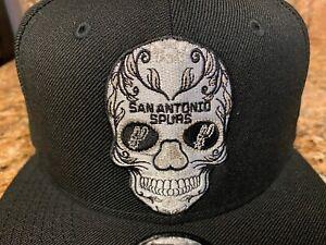 San Antonio Spurs Dia Los Muertos Sugar Skull Baseball Hat Snapback Cap