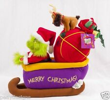 Grinch Stole Christmas Singing Sleigh Ride Plush Beverly Hills Teddy SEE VIDEO