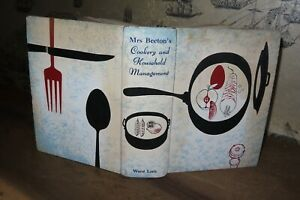 1960 MRS BEETON'S COOKERY & HOUSEHOLD MANAGEMENT 32 COLOUR PLTS COOKING Beeton