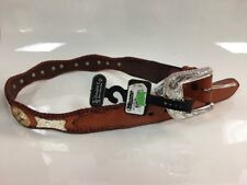 Nocona Double S Belt Collection Size 32 Genuine Leather Belt