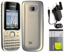 Brand New Nokia Gold C2-01 3G 3.2mp Unlocked Bluetooth Mobile 3 Months Warranty
