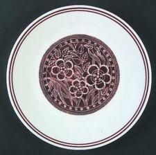 "Corelle BATIK 8-1/2"" Salad Luncheon Plate Corning Brown Floral Hawaiian Print"