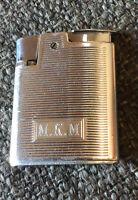 """Vintage Ronson Whirlwind Lighter Monogrammed """" MKM """""""