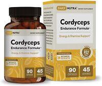 Cordyceps Endurance Formula by DailyNutra - Natural Energy Supplement - Caffeine