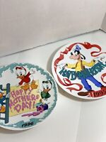 2 Mint Walt Disney Collectors Plates, 1995 & 1996 Happy Mothers Day Edition