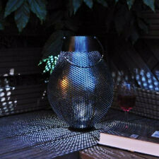 Large Metal Arabian Solar Powered Hanging Garden Lantern -Modern Garden Lighting