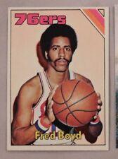 1975 Topps Fred Fox 76ers #167 Basketball Card nm