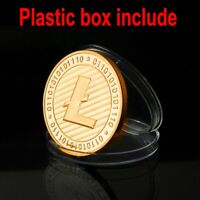 Gold Plated Commemorative Litecoin Collectible Golden Iron Miner Coin Fast Ship