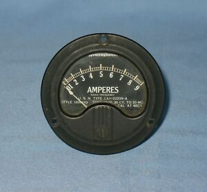 Vtg. Westinghouse Radio Frequency Amperes Panel Meter U. S. N. Type CAY-22239-A