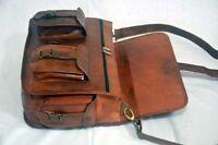"Real Vintage Goat Leather Women's 15"" Satchel Messenger Laptop Briefcase NEW Bag"