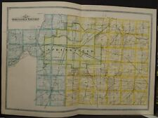 Ohio Clark County Map Springfield Township 1894 Double Page R5#39