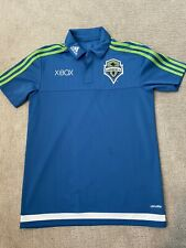 ADIDAS SEATTLE SOUNDERS FC TRAVEL POLO - MLS SSFC Size Small Jersey Shirt Xbox