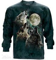 New The Mountain Three Wolf Moon Long Sleeve T Shirt