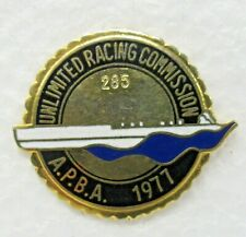 1977 U.R.C. / A.P.B.A. SEASON PASS #285 tack pin pinback Hydroplane boat b1