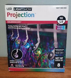 Gemmy LED Holiday Light Show Projection Kaleidoscope Lights 8 Lights NEW