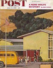 The Saturday Evening Post June 21 1958 John Falter Vintage Americana