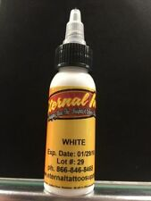 "Eternal Tattoo Ink ""WHITE"" 1 Oz Bottle 100% Authentic Free Shipping Brand New"
