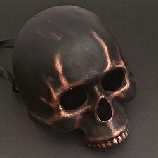 Black Copper Half Skull Face Halloween Ball Prom Costume Masquerade Mask