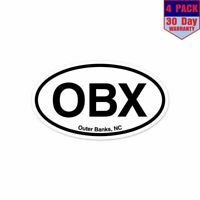 OBX Outer Banks North Carolina 4 Stickers 3x5 Inch Sticker Decal