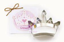 Ann Clark Tin Crown Cookie Cutter Princess, King, Queen w/ Recipe Card Made USA