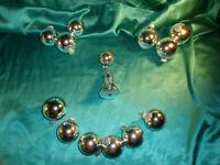 14 alte Christbaumkugeln Glas Glocke silber Weihnachtskugeln Krebs & Sohn KS CBS