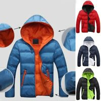 Men's Slim Casual Warm Jacket Hooded Winter Thick Coat Parka Overcoat Hoodie New