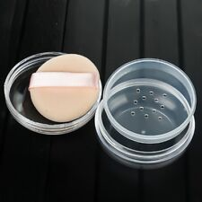 Plastic Empty Loose Powder Jar Puff Container Sifter Box Cosmetic Case With Puff