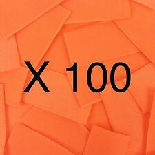 "100 Pieces, 4"" x 2"", Orange Genuine VELCRO® Brand, Hook Only"