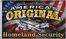 NEW 3x5ft AMERICA'S ORIGINAL HOMELAND SECURITY 2ND AMENDMENT FLAG